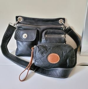 Roots Village Bag Cervino with Small Leather Pouch